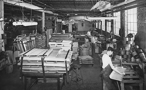 Shure Manufacturing historic photo